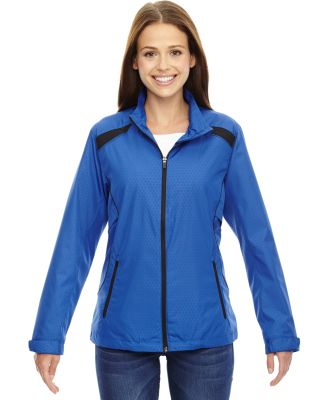 North End 78188 Ladies' Tempo Lightweight Recycled Polyester Jacket with Embossed Print NAUTICAL BLUE