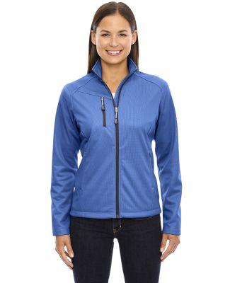 78213 Ladies' Trace Printed Fleece Jacket NAUTICAL BLUE