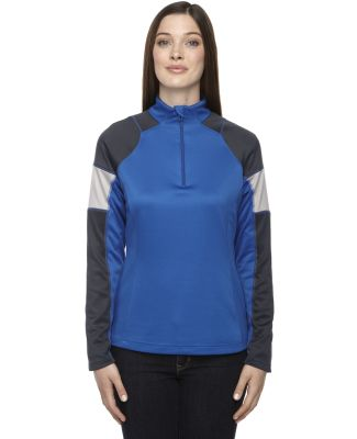 North End 78214 Ladies' Quick Performance Interlock Quarter-Zip TRUE ROYAL