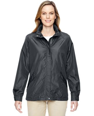 North End 78216 Ladies' Excursion Transcon Lightweight Jacket with Pattern GRAPHITE