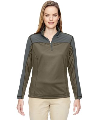 North End 78220 Ladies' Excursion Circuit Performance Quarter-Zip DARK OAKMOSS