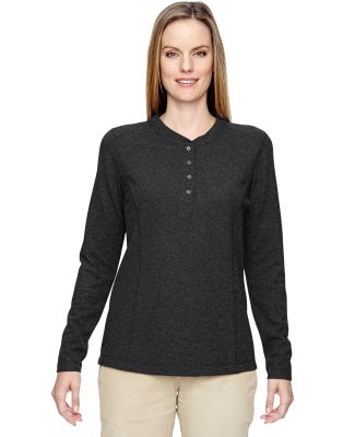 North End 78221 Ladies' Excursion Nomad Performance Waffle Henley BLACK