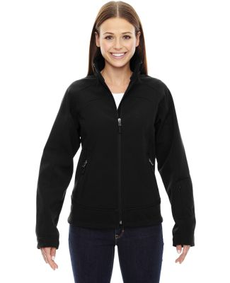 78604 Ash City - North End Sport Red Ladies' Three-Layer Light Bonded Soft Shell Jacket BLACK