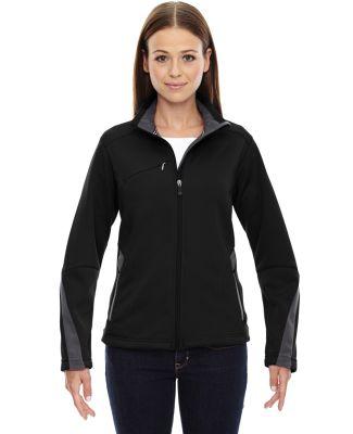 78649 Ash City - North End Sport Red Ladies' Escape Bonded Fleece Jacket BLACK