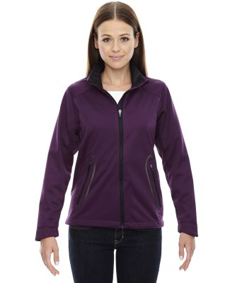 78655 Ash City - North End Sport Red Ladies' Splice Three-Layer Light Bonded Soft Shell Jacket with Laser Welding MULBERRY PURPLE