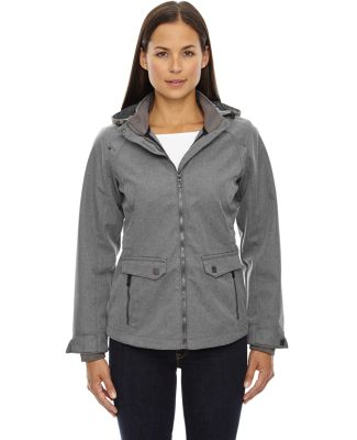 78672 Ash City - North End Sport Blue Ladies' Uptown Three-Layer Light Bonded City Textured Soft Shell Jacket CITY GREY