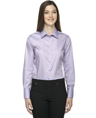 78673 North End Sport Blue Boulevard Ladies' Wrinkle-Free 2-Ply 80's Cotton Dobby Shirt ORCHID PURPLE