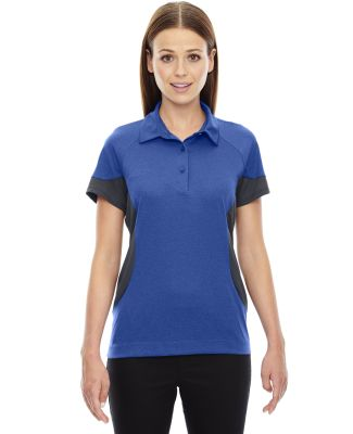 78677 Ash City - North End Sport Red Ladies' Refresh UTK cool.logik™ Coffee Performance Mélange Jersey Polo NAUTICAL BLUE