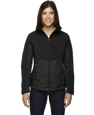 78679 Ash City - North End Sport Red Ladies' Innovate Insulated Hybrid Soft Shell Jacket BLACK