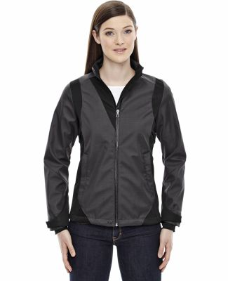 78686 Ash City - North End Sport Blue Ladies' Commute Three-Layer Light Bonded Two-Tone Soft Shell Jacket with Heat Reflect Tech CARBON