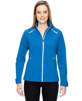 78693 Ash City - North End Sport Red Ladies' Excursion Soft Shell Jacket with Laser Stitch Accents OLYMPIC BLUE