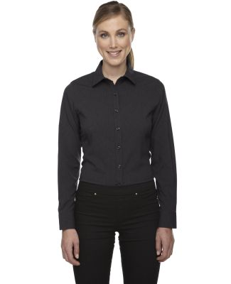 78802 Ash City - North End Sport Blue Ladies' Central Ave Mélange Performance Shirt CARBON HEATHER