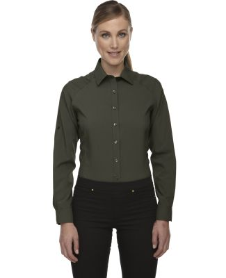 78804 Ash City - North End Sport Red Ladies' Rejuvenate Performance Shirt with Roll-Up Sleeves OAKMOSS