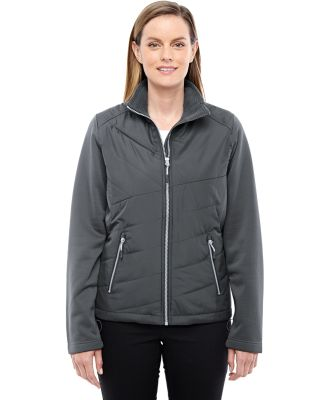 78809 Ash City - North End Sport Red Ladies' Quantum Interactive Hybrid Insulated Jacket CARBON/ CARBON