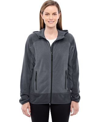 78810 Ash City - North End Sport Red Ladies' Vortex Polartec Active Fleece Jacket CARBON/ BLACK