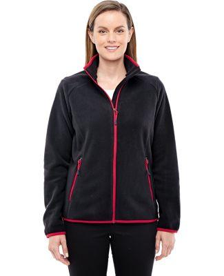 78811 Ash City - North End Sport Red Ladies' Vector Interactive Polartec Fleece Jacket BLACK/ OLYM RED