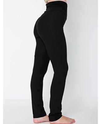 American Apparel 8375W Ladies' Cotton/Spandex Yoga Pant Black