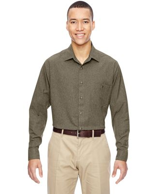 North End 87045 Men's Excursion Utility Two-Tone Performance Shirt DARK OAKMOSS