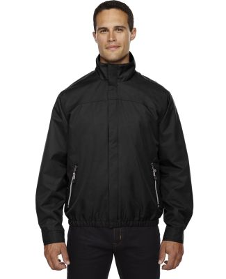 North End 88103 Men's Bomber Micro Twill Jacket BLACK