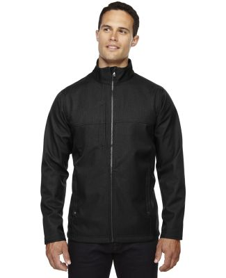 88171 North End Men's Textured City Soft Shell Jacket BLACK