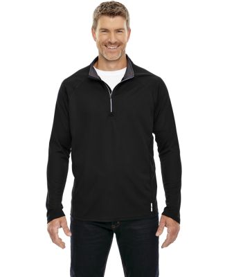 88187 North End Radar Men's Half-Zip Performance Long Sleeve Top BLACK