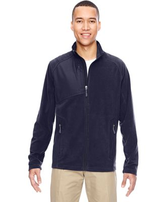North End 88215 Men's Excursion Trail Fabric-Block Fleece Jacket NAVY