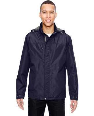 North End 88216 Men's Excursion Transcon Lightweight Jacket with Pattern NAVY
