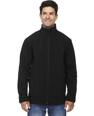 88604 Ash City - North End Sport Red Men's Three-Layer Light Bonded Soft Shell Jacket BLACK