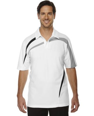 88645 Ash City - North End Sport Red Men's Impact Performance Polyester Piqué Colorblock Polo WHITE