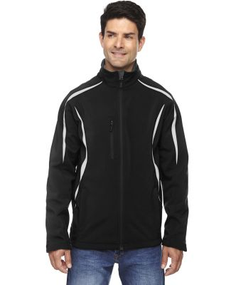 88650 Ash City - North End Sport Red Men's Enzo Colorblocked Three-Layer Fleece Bonded Soft Shell Jacket BLACK