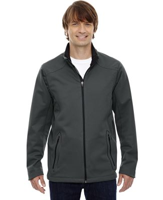 88655 Ash City - North End Sport Red Men's Splice Three-Layer Light Bonded Soft Shell Jacket with Laser Welding GRAPHITE