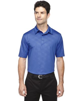 88659 Ash City - North End Sport Red Men's Maze Performance Stretch Embossed Print Polo NAUTICAL BLUE