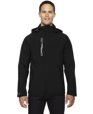 88665 Ash City - North End Sport Red Men's Axis Soft Shell Jacket with Print Graphic Accents BLACK