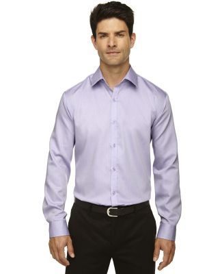 88673 North End Sport Blue boulevard Men's Wrinkle-Free 2-Ply 80's Cotton Dobby Taped Shirt ORCHID PURPLE