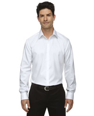 88673 North End Sport Blue boulevard Men's Wrinkle-Free 2-Ply 80's Cotton Dobby Taped Shirt SILVER