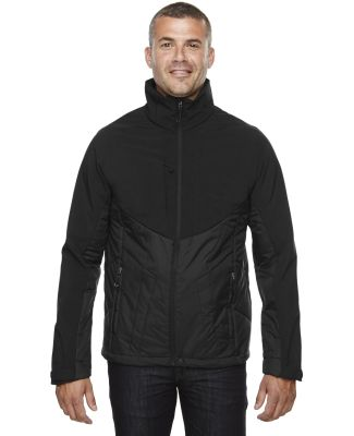 88679 Ash City - North End Sport Red Men's Innovate Insulated Hybrid Soft Shell Jacket BLACK