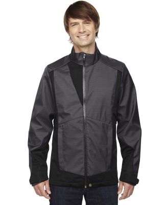 88686 Ash City - North End Sport Blue Men's Commute Three-Layer Light Bonded Two-Tone Soft Shell Jacket with Heat Reflect Techno CARBON