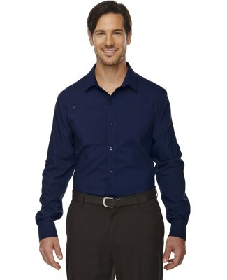 88804 Ash City - North End Sport Red Men's Rejuvenate Performance Shirt with Roll-Up Sleeves NIGHT