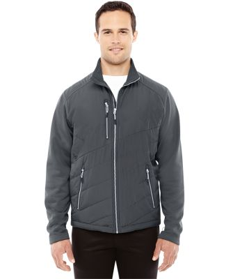 88809 Ash City - North End Sport Red Men's Quantum Interactive Hybrid Insulated Jacket CARBON/ CARBON
