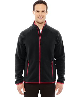 88811 Ash City - North End Sport Red Men's Vector Interactive Polartec Fleece Jacket BLACK/ OLYM RED