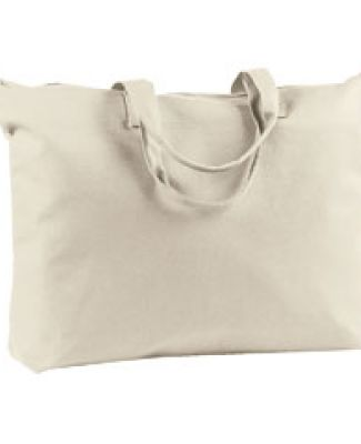 BE009 BAGedge 12 oz. Canvas Zippered Book Tote NATURAL
