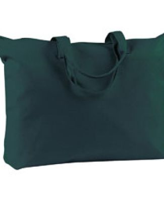 BE009 BAGedge 12 oz. Canvas Zippered Book Tote FOREST