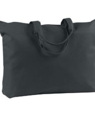 BE009 BAGedge 12 oz. Canvas Zippered Book Tote BLACK