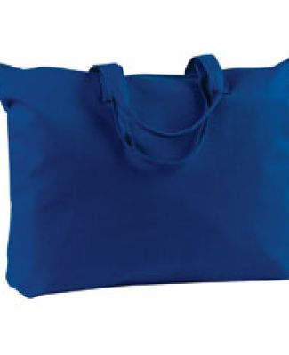 BE009 BAGedge 12 oz. Canvas Zippered Book Tote NAVY