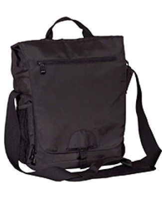 BE043 BAGedge Vertical Messenger Tech Bag BLACK