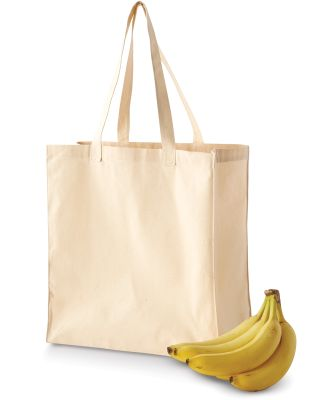 BE055 BAGedge 6 oz. Canvas Grocery Tote NATURAL