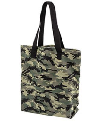 BE066 BAGedge 12 oz. Canvas Print Tote FOREST CAMO