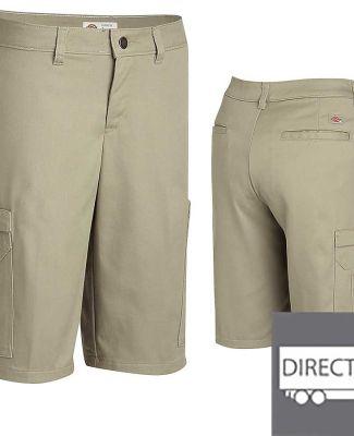 Dickies Workwear FR337 Ladies' Industrial Cotton Cargo Short BLACK _16