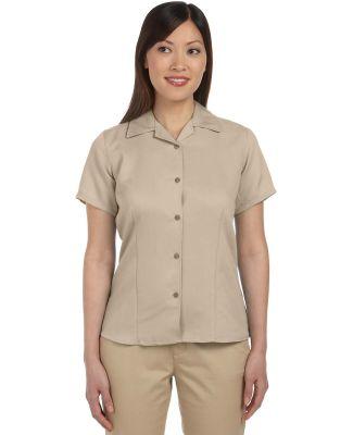 M570W Harriton Ladies' Bahama Cord Camp Shirt SAND