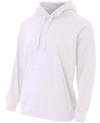 NB4237 A4 Drop Ship Youth Solid Tech Fleece Hoodie WHITE